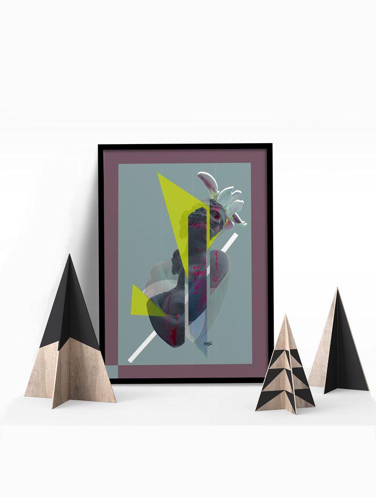 Marcos de color 1, composiciones a través de formas geométricas, print de 330gr estucado mate