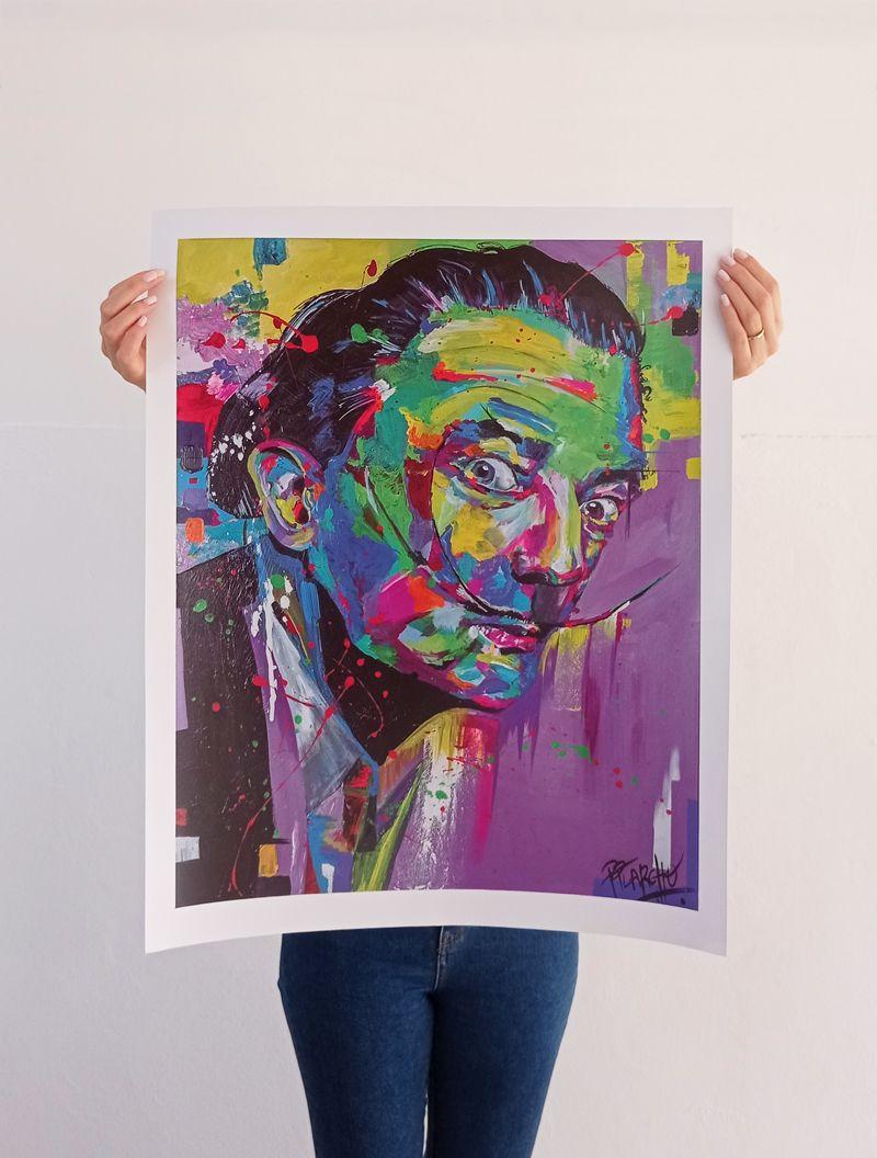 Lámina basada en el cuadro de Dalí, impresión en alta calidad sobre cartulina estucada de 300 gr