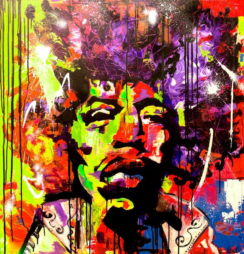 Retrato de color de jimi hendrix-PILARCHOART-1º-Premio-MadCool-Gallery