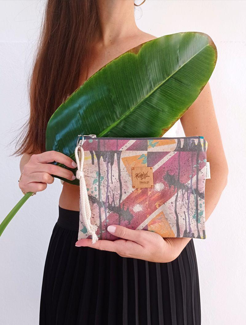lienzo hecho bolso- de wildrose collection de PILARCHoART--CORDON-ALGODÓN