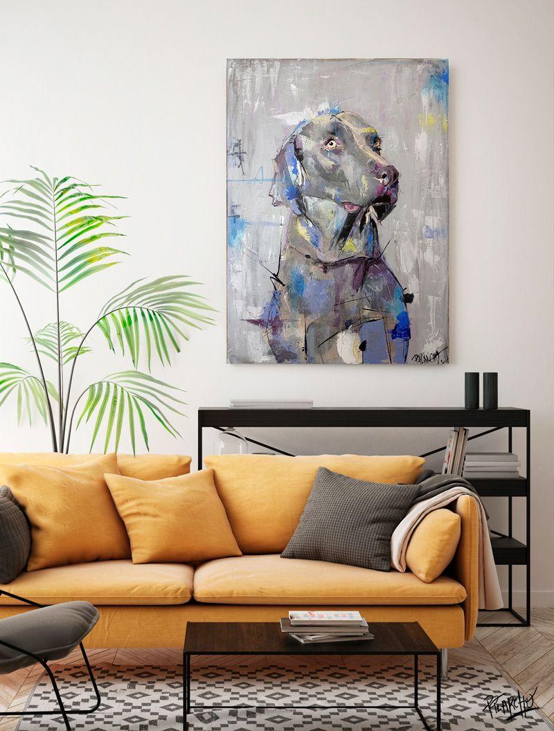lienzo por encargo el retrato de un braco de weimar- se llama gómez