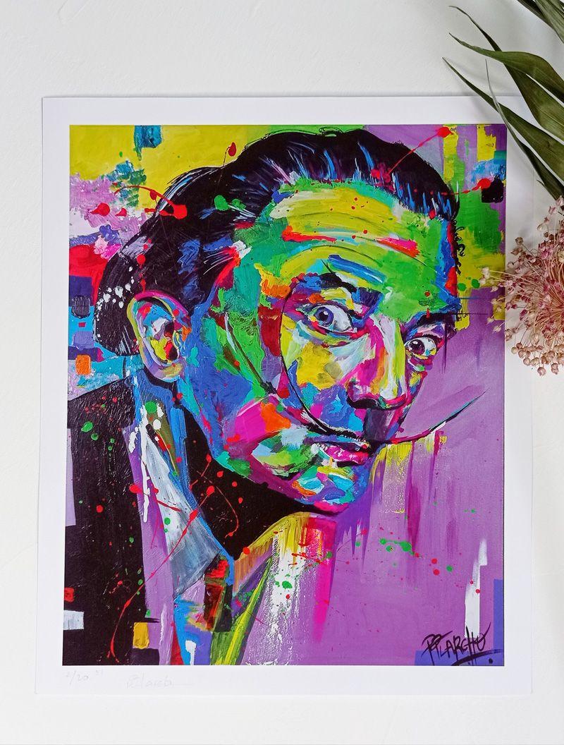 Lámina Dalí pequeña, impresión en alta calidad sobre cartulina estucada de 300 gr