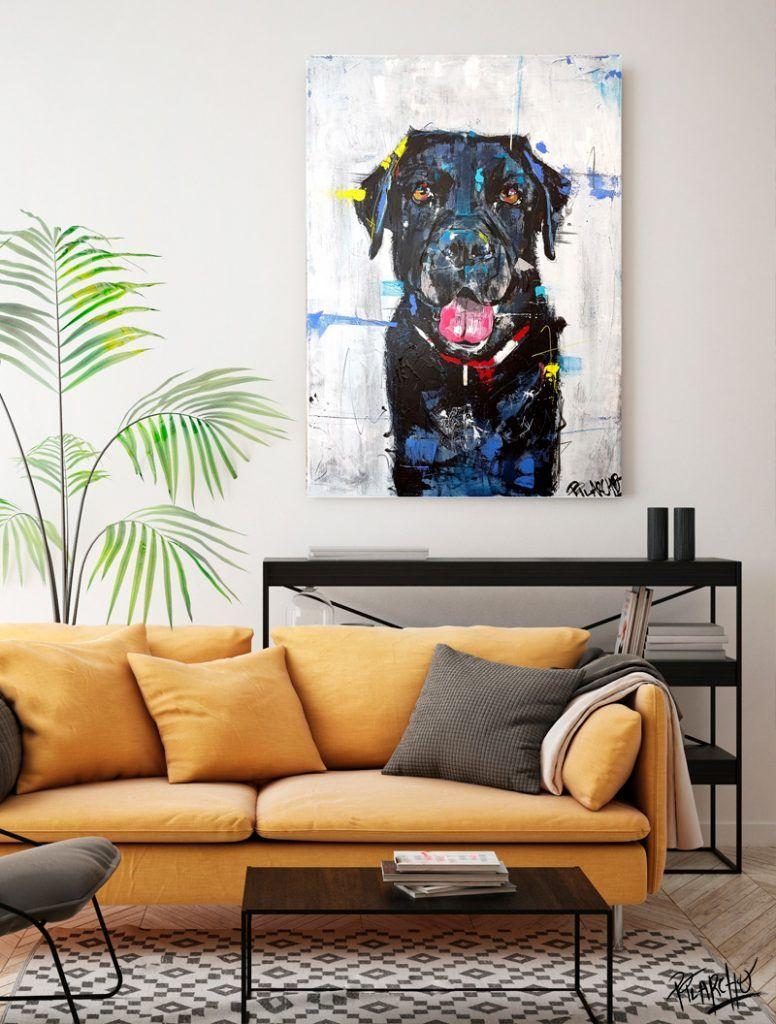 lienzo por encargo el retrato de un labrador- se llama negri