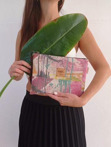 un lienzo hecho bolso de la colección wildrose, número 6