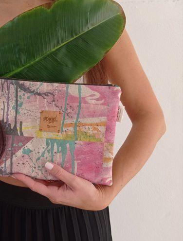 de talle de un lienzo hecho bolso de la colección wildrose, número 6