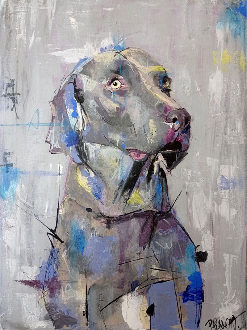 retrato de gómez, perro