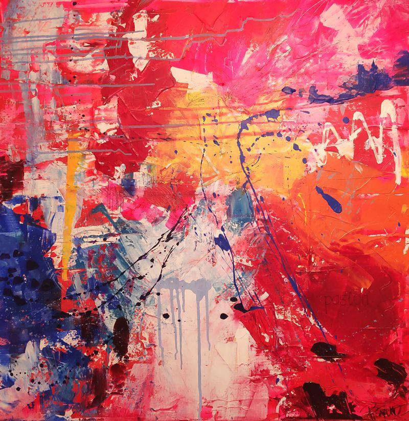 Pasiones, abstracto personalizado para Carmen