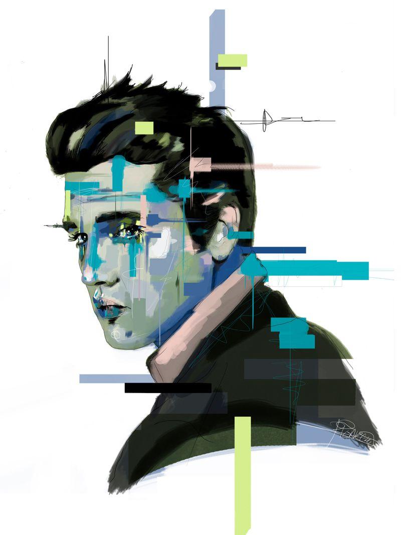 retrato elvis ilustración