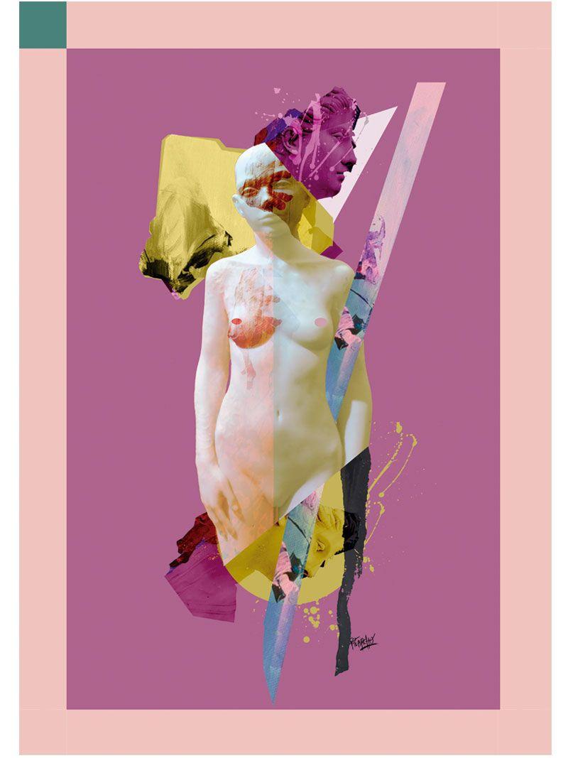 marcos de color en un collage