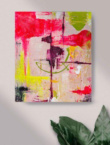 abstracto caballo lienzo