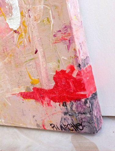 abstracto caballo lienzo plan o detalle firma
