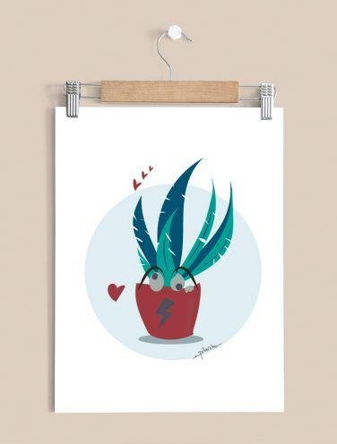ilustración infantil cactus