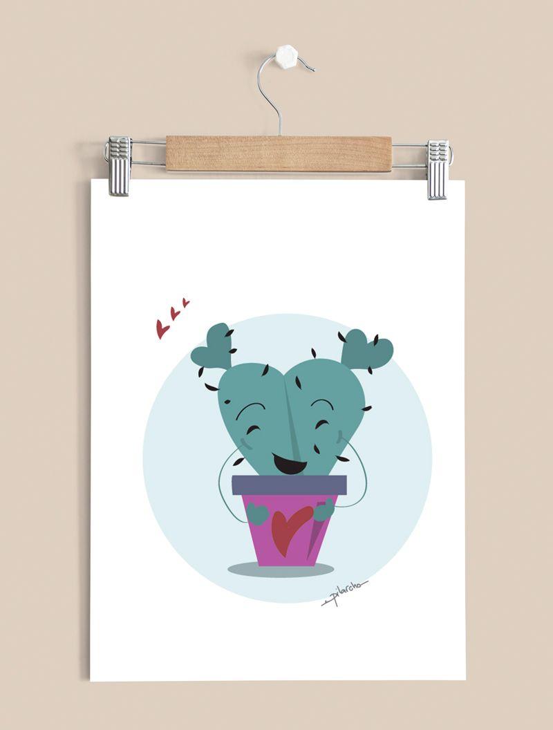 ilustracion infantil cactus